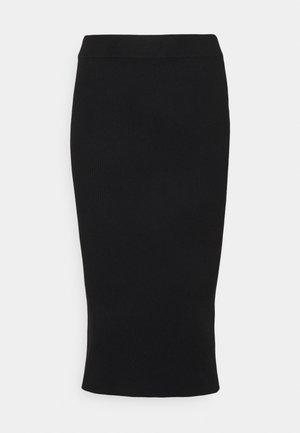 AVA KNITTED SKIRT - Pencil skirt - black