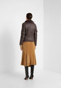 VSP - SHORT JACKET - Leather jacket - toscana dark mist - 2