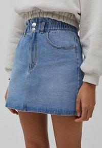 PULL&BEAR - A-line skirt - blue - 3