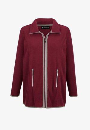 Fleece jacket - bordeaux,grau