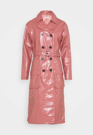 MIDI - Trenchcoat - rose pink
