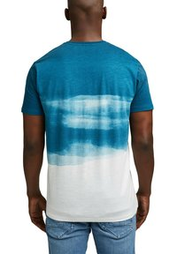 Esprit - FASHION SLUB - Print T-shirt - petrol blue - 2