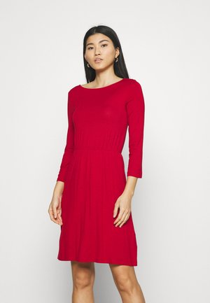 Mini waisted basic dress - Jerseykjole - red