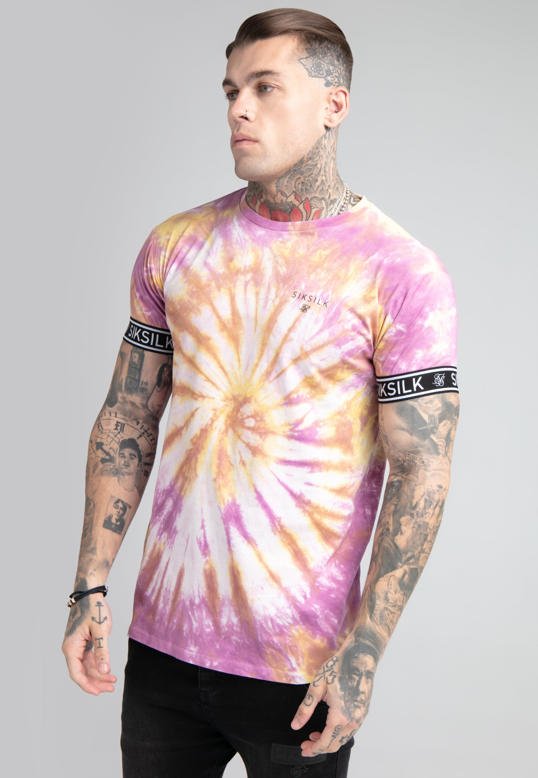 Homme TIE DYE CUFF TEE - T-shirt imprimé
