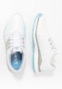 adidas Golf - TOUR360 XT-SL - Zapatos de golf - footwear white/silver metallic/team light blue - 1