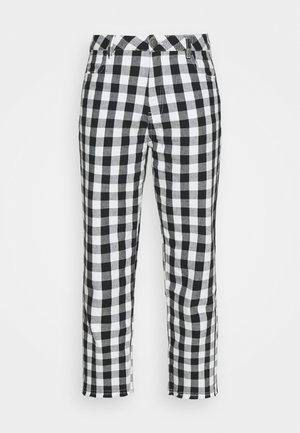 SHELBY - Pantalon classique - black/white