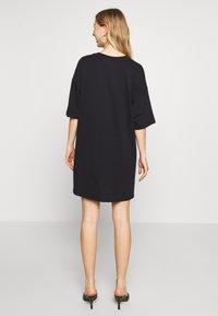 Even&Odd - Basic oversized T-Shirt Dress - Vestido ligero - black - 2