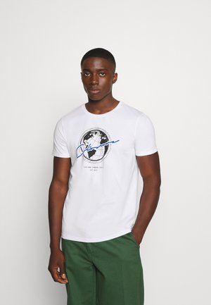 WORLDWIDE TEE - Print T-shirt - white