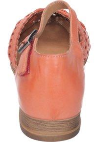 Piazza - Ankle strap ballet pumps - orange - 2