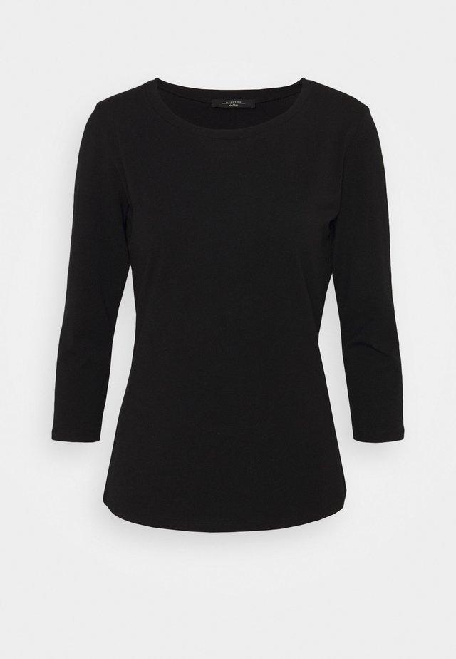 MULTIA - Langærmede T-shirts - schwarz