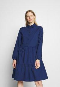 Marc O'Polo DENIM - DRESS BUTTON PLACKET - Shirt dress - scandinavian blue - 0