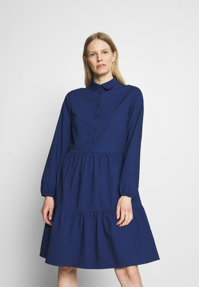 DRESS BUTTON PLACKET - Shirt dress - scandinavian blue