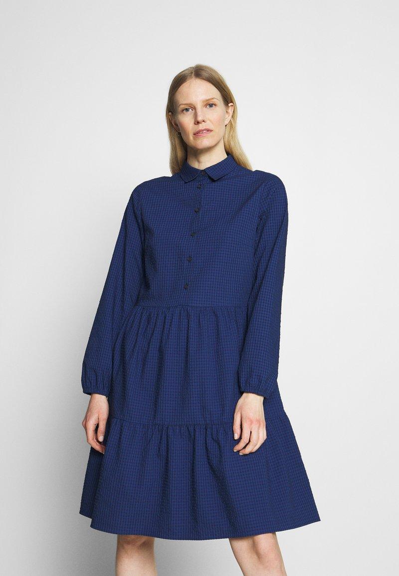 Marc O'Polo DENIM - DRESS BUTTON PLACKET - Shirt dress - scandinavian blue