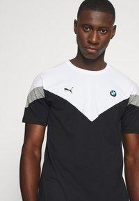 Puma - BMW TEE - Print T-shirt - black - 3