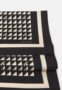 Tory Burch - WINDMILL GEO NECKERCHIEF - Chusta - black/beige - 1