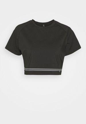 FLUX CROP TEE - T-shirts med print - black