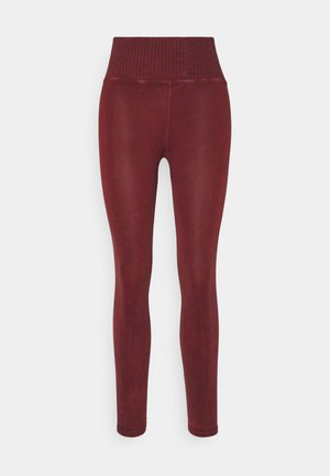 GOOD KARMA LEGGING - Leggings - wine