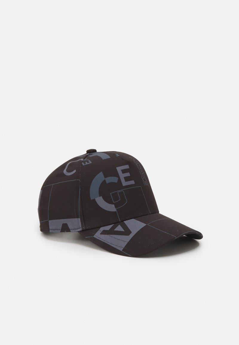 Armani Exchange - BASEBALL ALLOVER UNISEX - Casquette - nero stampa