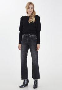 PULZ - PZLIVA  - Flared Jeans - black denim - 1