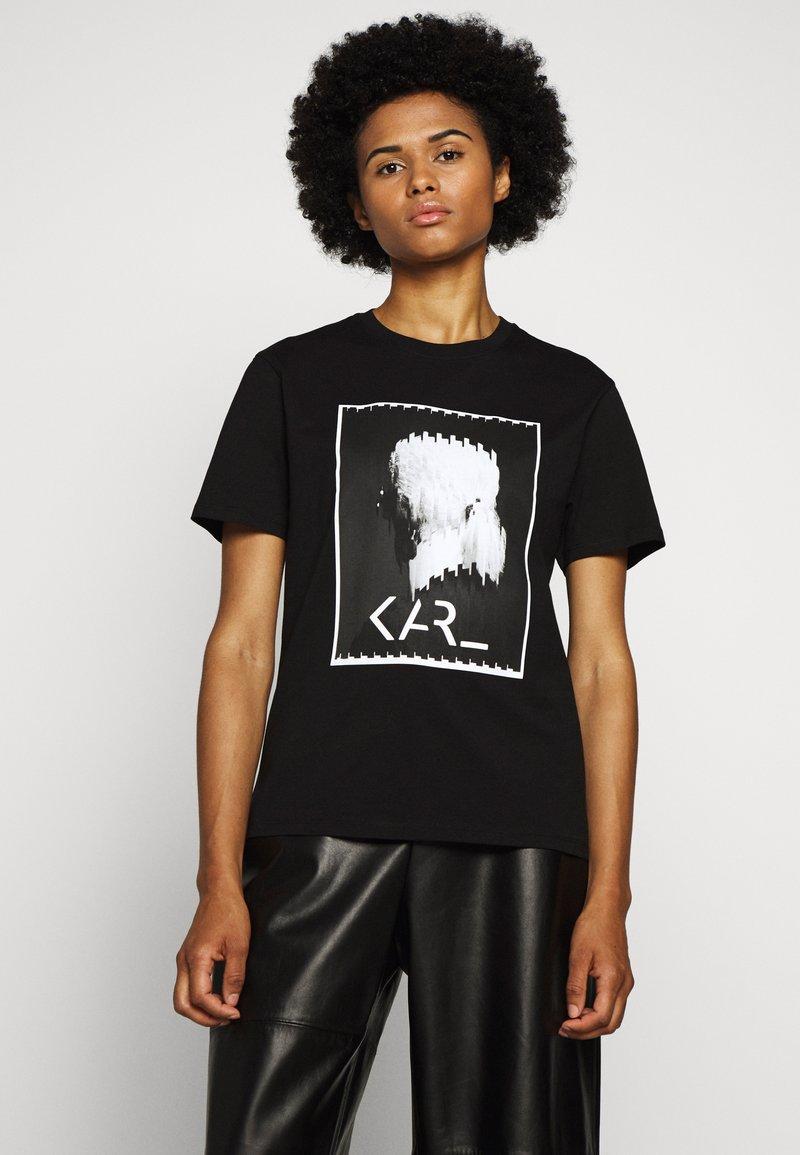 KARL LAGERFELD - LEGEND - T-shirt z nadrukiem - black