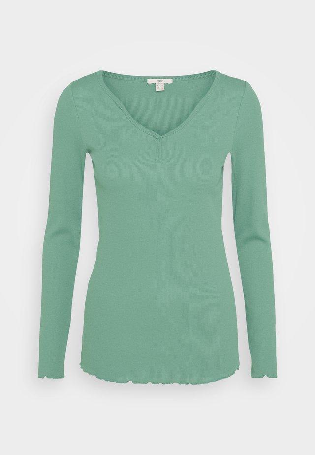 Long sleeved top - dusty green