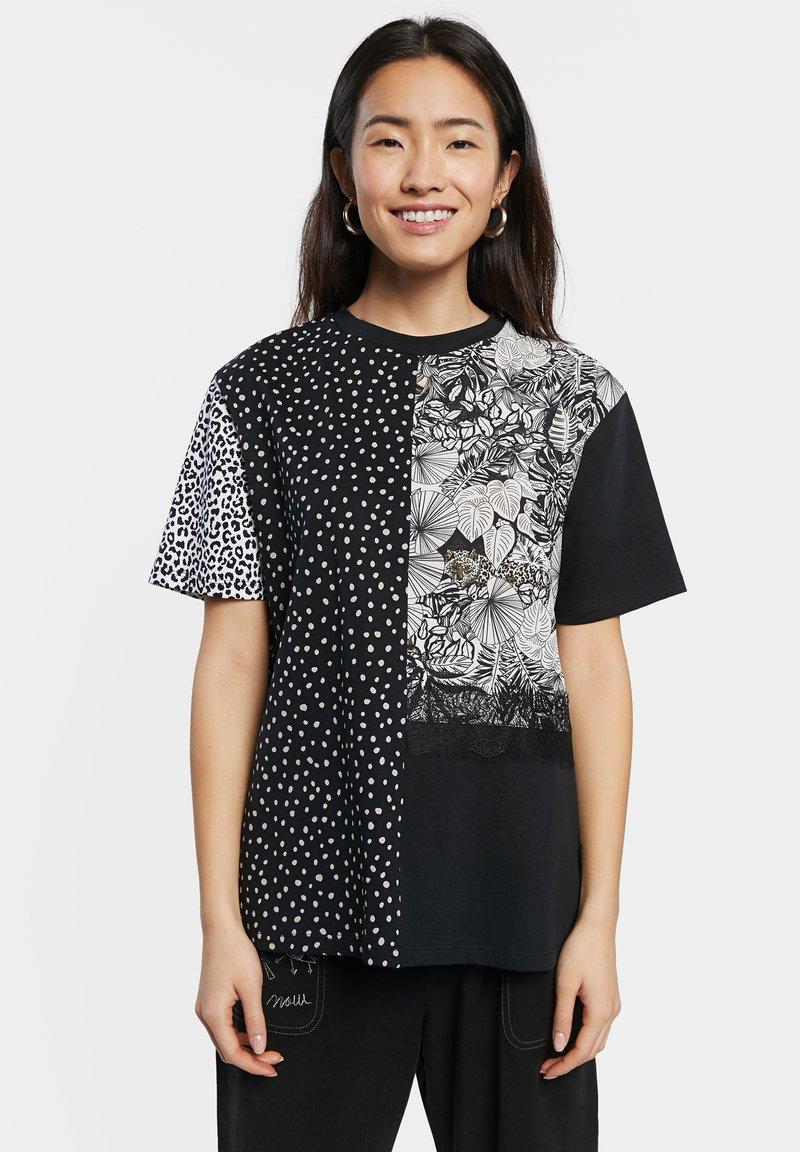 Desigual - Print T-shirt - black