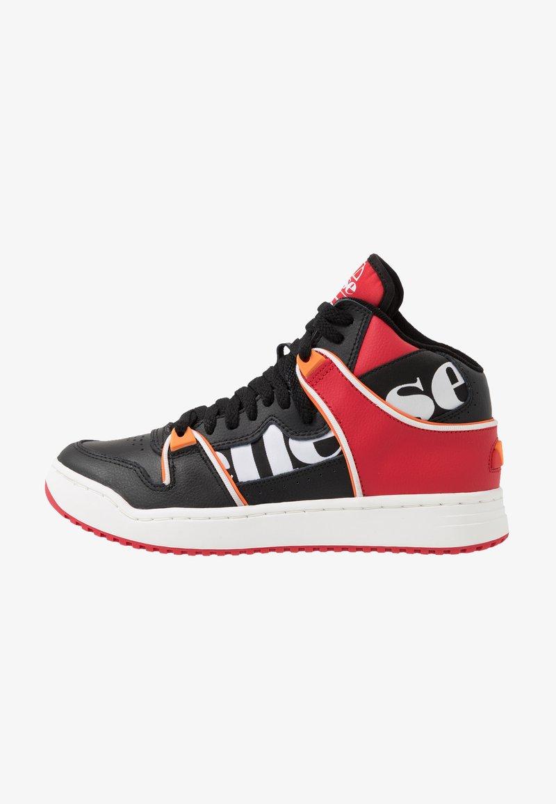 Ellesse - ASSIST - Baskets montantes - black/red/orange