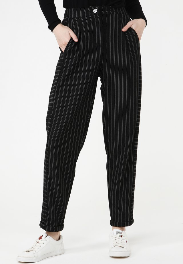 HOSE VALERY - Pantaloni - schwarz