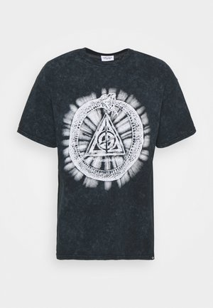 INFINTY SNAKE GRAPHIC WASHED - Print T-shirt - black