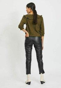 Vila - Leather trousers - black - 2