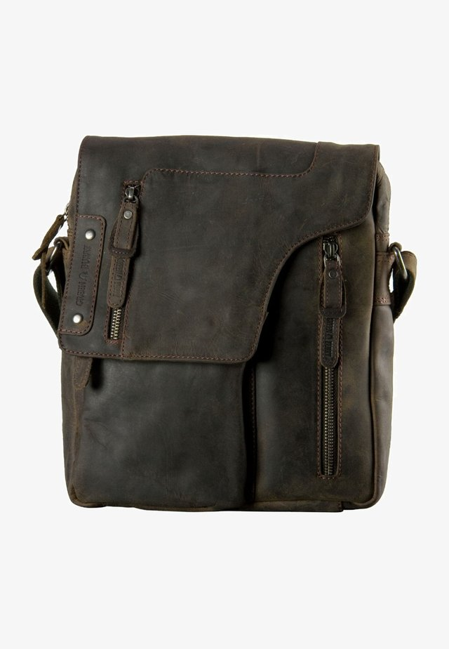 VINTAGE REVIVAL REVOLVER - Across body bag - charcoal