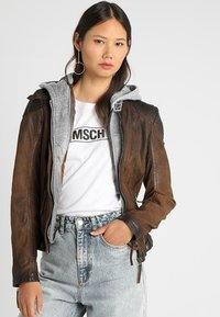 Gipsy - CASCHA LAMOV - Leather jacket - antic brown - 0