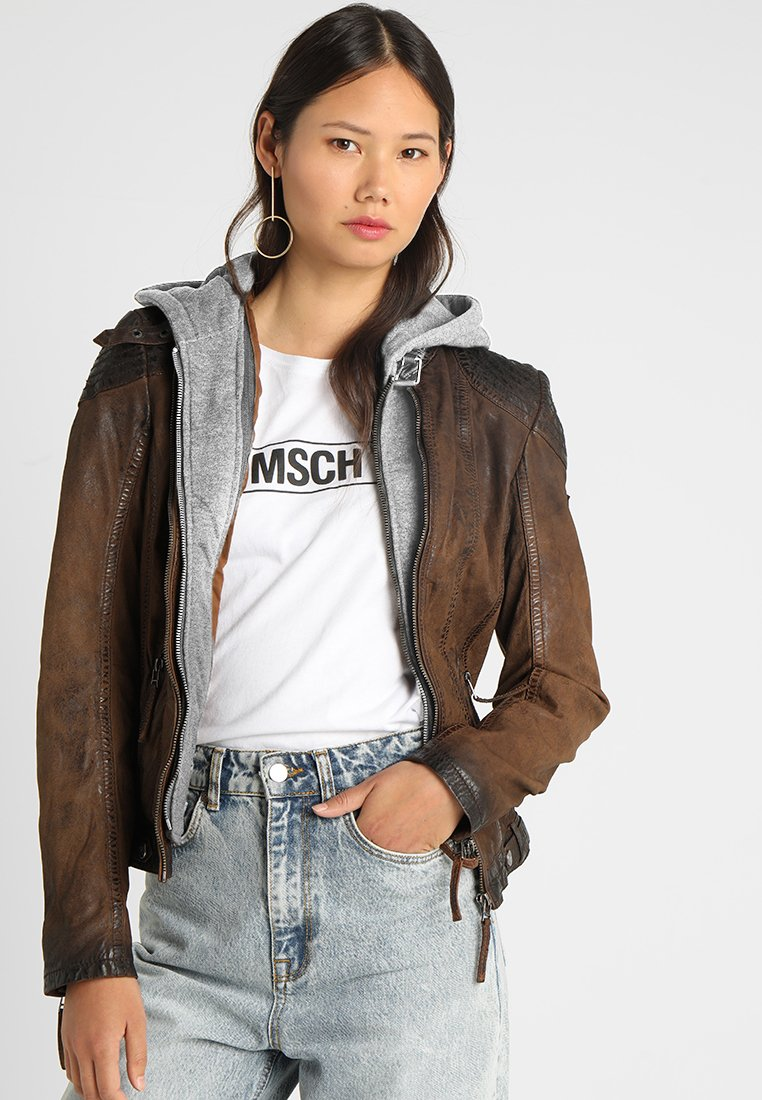 Gipsy - CASCHA LAMOV - Leather jacket - antic brown