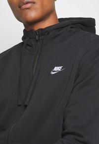 Nike Sportswear - CLUB HOODIE - Zip-up sweatshirt - black - 5