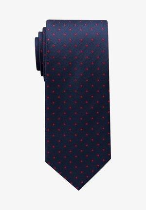 Cravate - dunkelblau/rot