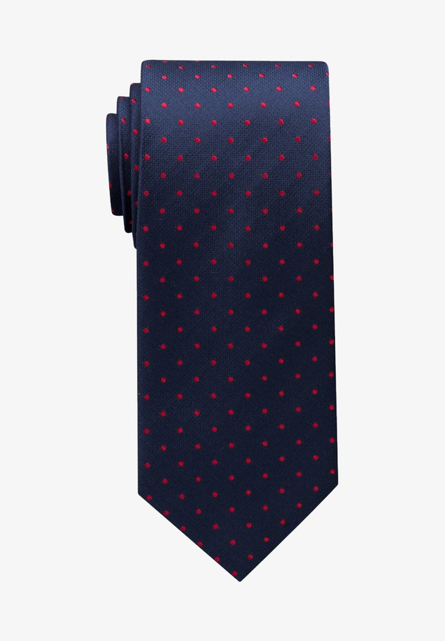 Tie - dunkelblau/rot