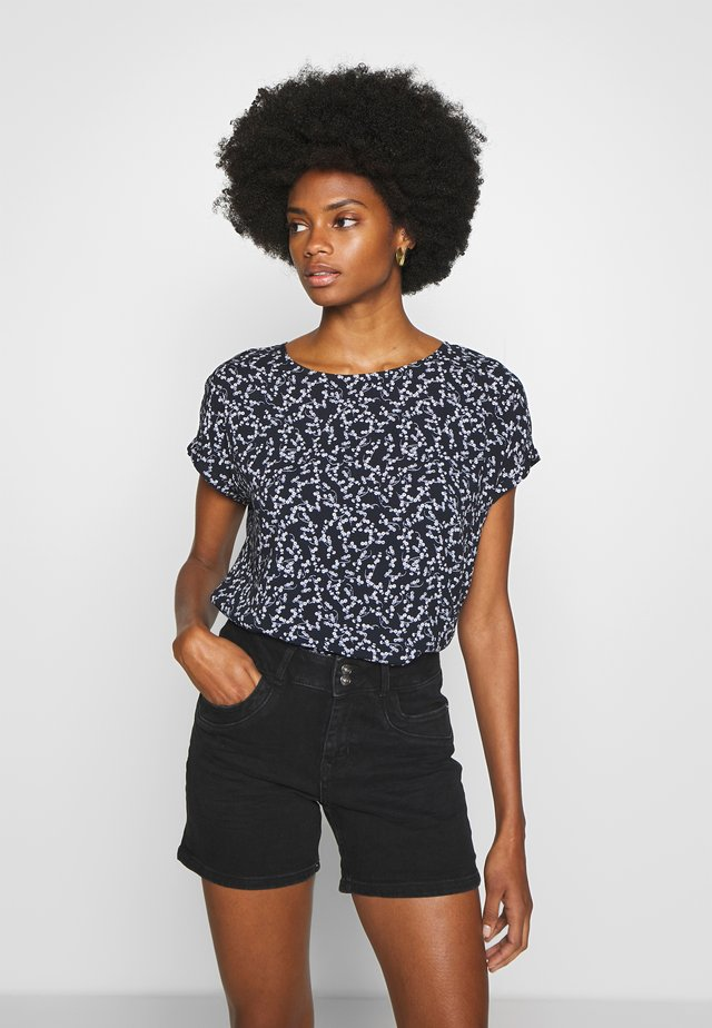 BLOUSE PRINTED - Bluse - navy