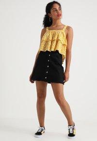 TWINTIP - Mini skirt - black denim - 1