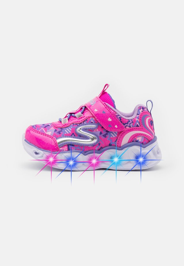 HEART LIGHTS - Joggesko - neon pink/multicolor