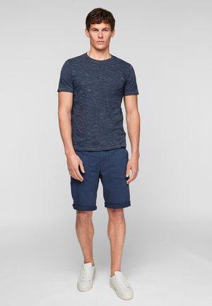 Basic T-shirt - blue melange