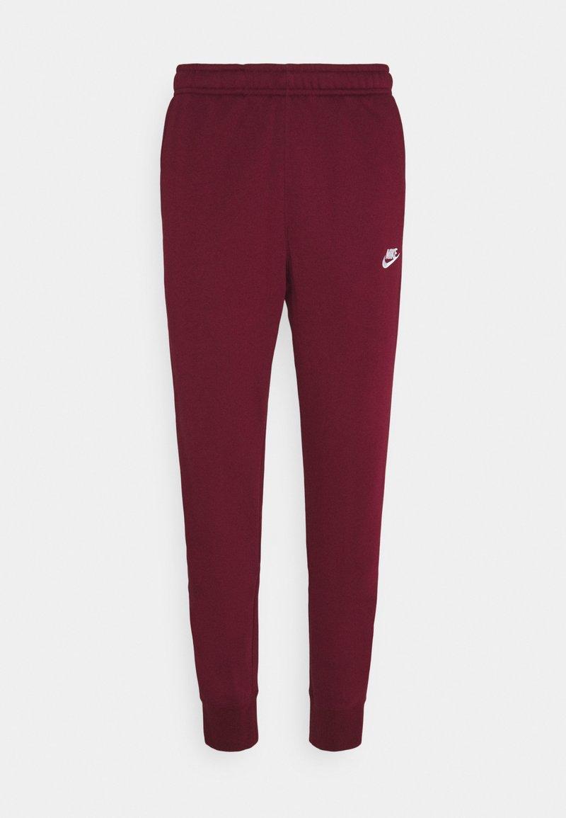 Nike Sportswear - CLUB - Tracksuit bottoms - dark beetroot/white