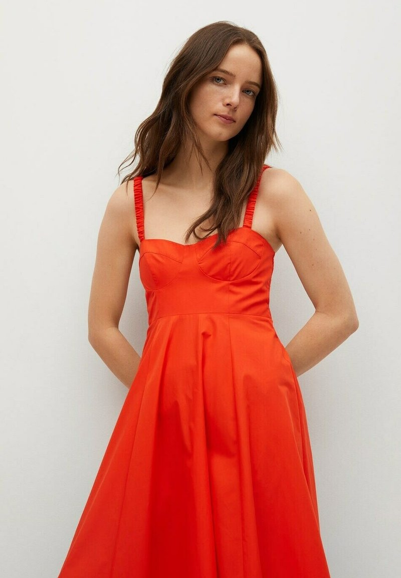 Mango - Vestido informal - rojo