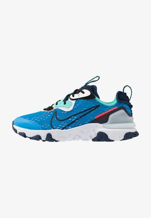 REACT VISION - Trainers - photo blue/black/midnight navy/aurora green