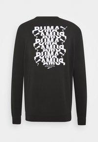 Puma - AVENIR GRAPHIC CREW - Sweatshirt - black - 1