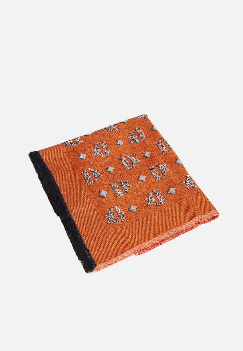 MCM - BI-COLOR JAQUARD MONOGRAM SCARF - Foulard - persimmon orange