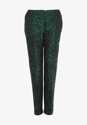 MARIO - Trousers - schwarz/grün