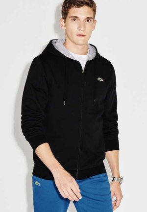 Zip-up hoodie - anthracite/light grey