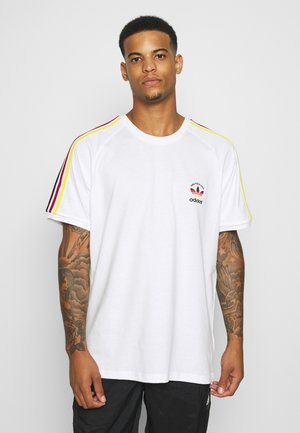 STRIPES SPORTS INSPIRED SHORT SLEEVE TEE UNISEX - Triko s potiskem - white