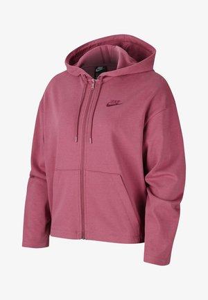 MIT DURCHGEHENDEM REISSVERSCHLUSS - Zip-up hoodie - mulberry rose/villain red