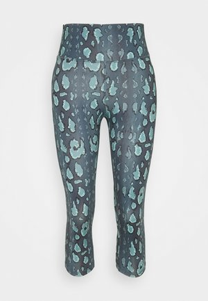 BECKY CAPRI - Leggings - black/green